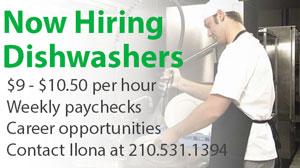 Dishwasher Job Opportunities