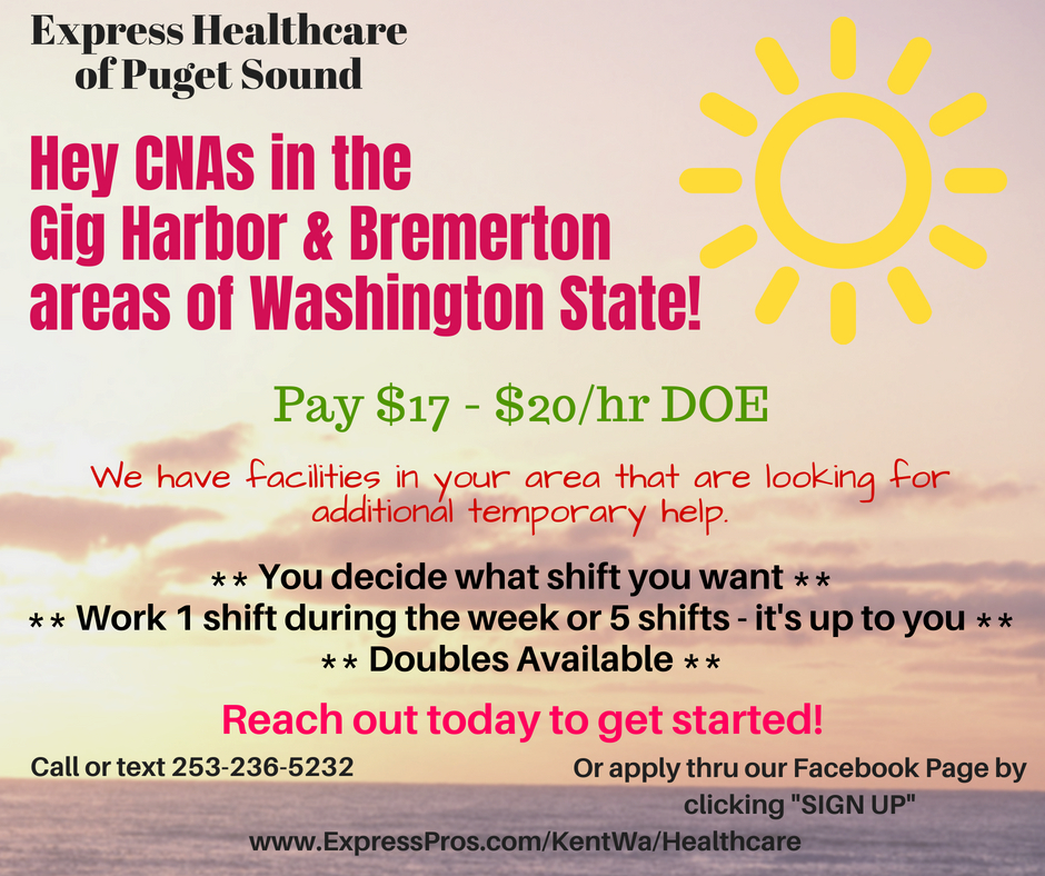 Cna Bremerton Gig Harbor Wa To 20hr
